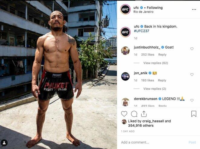 Jose Aldo | Instagram.com nuotr
