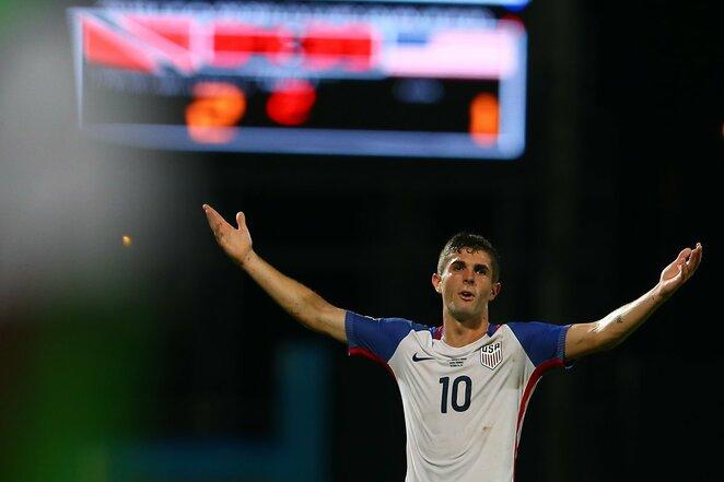 Trinidadas ir Tobagas - JAV rungtynių akimirka   Scanpix nuotr.