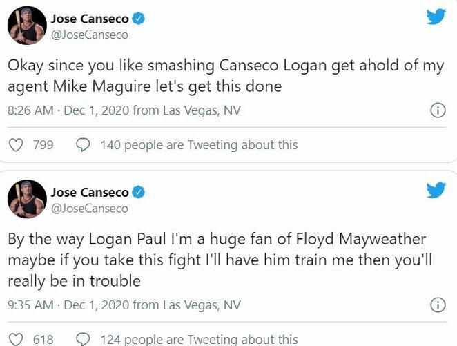 "Jose Canseco komentarai | ""Twitter"" nuotr."