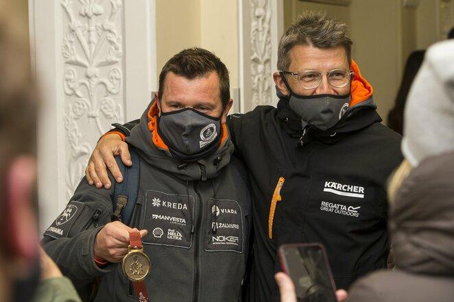Antanas Juknevičius ir Darius Vaičiulis | Roko Lukoševičiaus/BNS Foto nuotr.