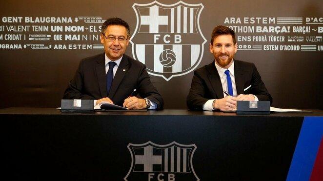 Lionelis Messi pasirašo naują kontraktą   Organizatorių nuotr.