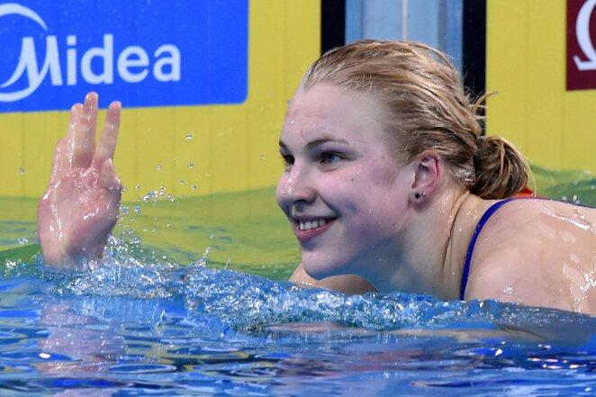 Rūta Meilutytė Dohoje vykusiame pasaulio trumpajame baseine čempionate   Scanpix nuotr.