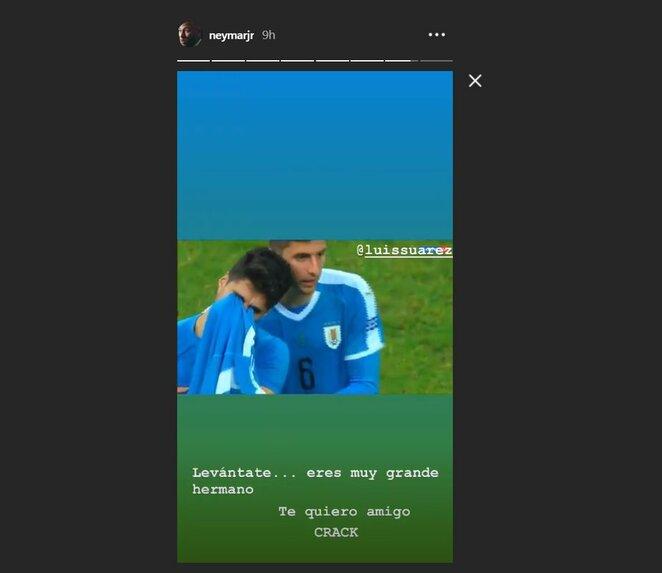 Neymaro žinutė L.Suarezui | Instagram.com nuotr