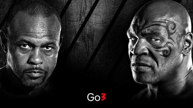 Mike'o Tysono ir Roy'o Joneso jaunesniojo sugrįžimo kovą | Organizatorių nuotr.
