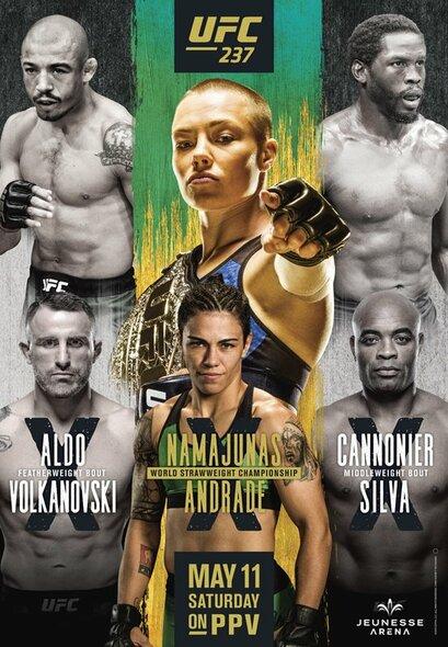 """""""UFC 237"""" plakatas   Organizatorių nuotr."""