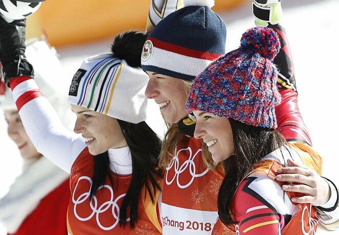 Moterų slalomo supermilžino varžybų akimirka | Scanpix nuotr.