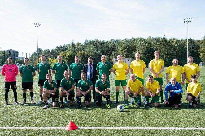 Įvyko jubiliejinės KAM ir užsienio gynybos atašė komandų futbolo rungtynės   Alfredo Pliadžio nuotr.