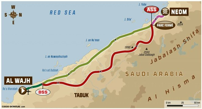 Antrojo etapo žemėlapis | Organizatorių nuotr.