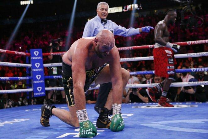 Tysonas Fury ir Deontay Wilderis   Scanpix nuotr.