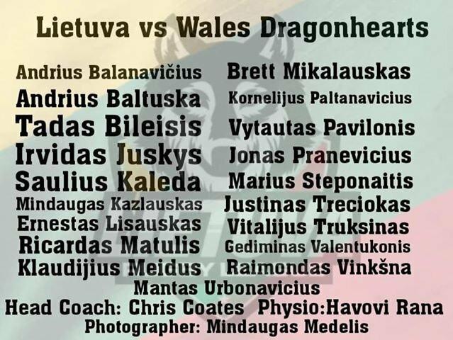 Lietuvos regbio lygos rinktinės sudėtis | Organizatorių nuotr.