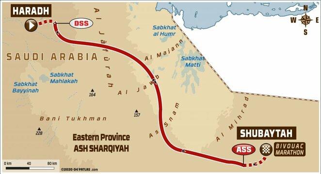 Dešimtojo etapo žemėlapis | Organizatorių nuotr.