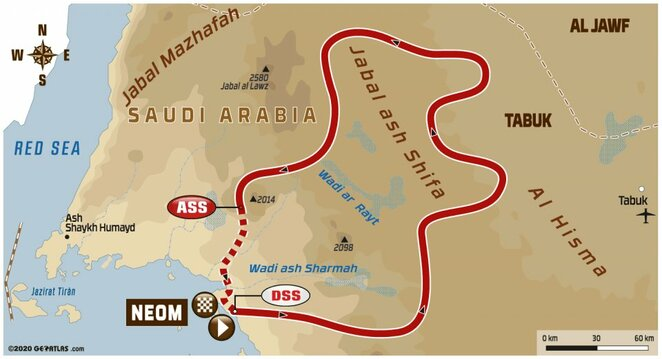 Trečiojo etapo žemėlapis | Organizatorių nuotr.