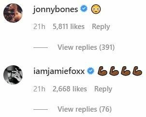 J.Joneso ir J.Foxxo reakcijos | Instagram.com nuotr