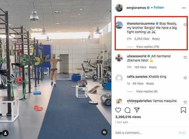 Conoro McGregoro atsakymas   Instagram.com nuotr