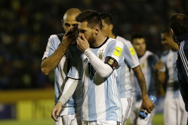 Argentina - Ekvadoras rungtynių akimirka | Scanpix nuotr.
