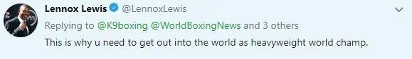 """Lennoxo Lewiso komentaras   """"Twitter"""" nuotr."""