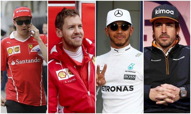 """Daugiausiai uždirbantys """"Formulės 1"""" lenktynininkai   Scanpix nuotr."""