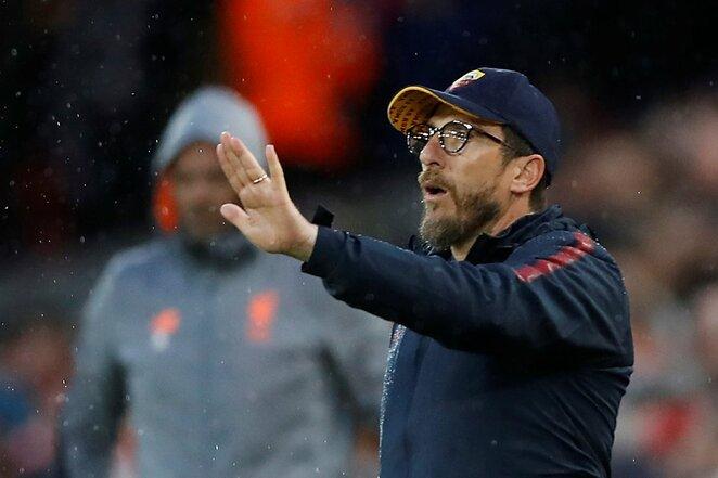 """UEFA Čempionų lygos pusfinalis: """"Liverpool"""" - """"Roma"""" (2018.04.24)   Scanpix nuotr."""