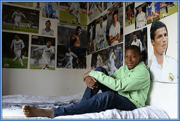K.Mbappe vaikystės nuotrauka | asmeninio archyvo nuotr.