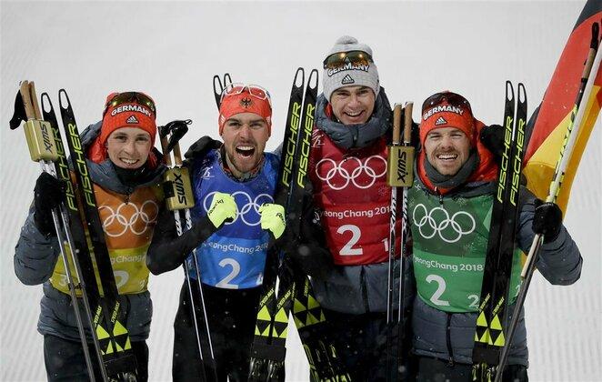 Vyrų šiaurės dvikovės komandinės varžybos, 4x5 km slidinėjimo estafetė   Scanpix nuotr.