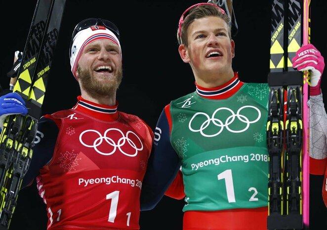 Vyrų slidinėjimo laisvuoju stiliumi komandinio sprinto finalas | Scanpix nuotr.